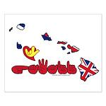 ILY Hawaii Small Poster