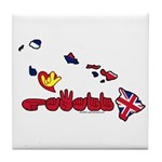 ILY Hawaii Tile Coaster