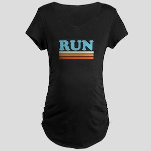 Retro RUN Maternity Dark T-Shirt