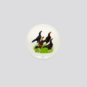 Oriental Gamefowl Mini Button