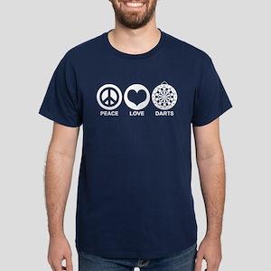 Peace Love Darts Dark T-Shirt