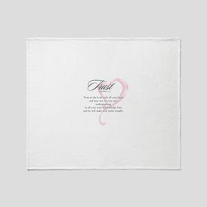 Proverbs 3:5-6 Throw Blanket
