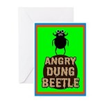 ANGRY DUNG BEETLEc Greeting Cards (Pk of 10)
