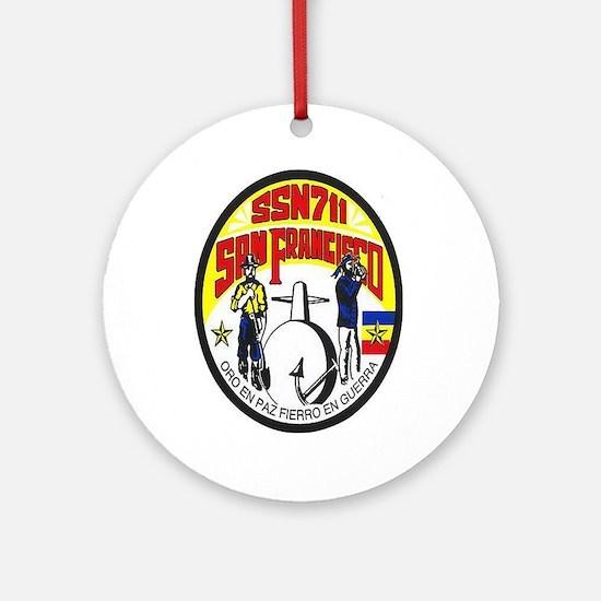 USS San Francisco SSN 711 Ornament (Round)