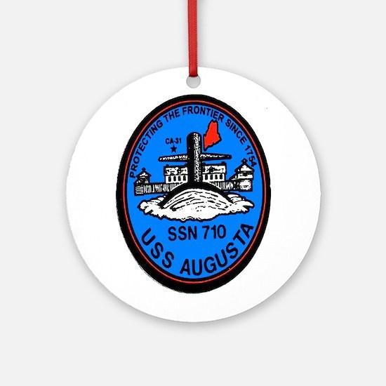 USS Augusta SSN 710 Ornament (Round)