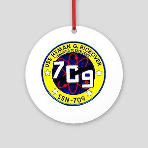 USS Hyman Rickover SSN 709 Ornament (Round)