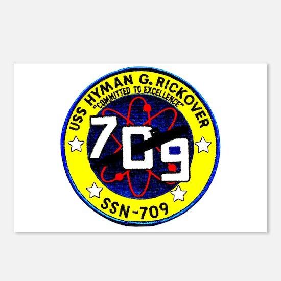 USS Hyman Rickover SSN 709 Postcards (Pk of 8)