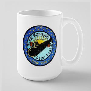 USS Mineapolis/St Paul SSN 708 Large Mug