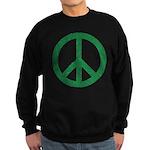 Green Peace Sign Sweatshirt (dark)