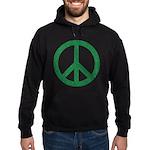 Green Peace Sign Hoodie (dark)