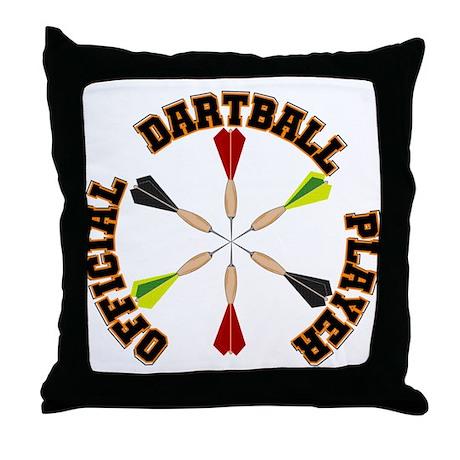Dartball Player Throw Pillow