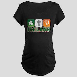 Irish pride Maternity Dark T-Shirt