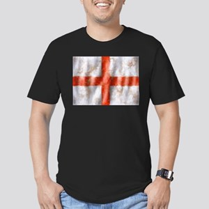 St George Cross Men's Fitted T-Shirt (dark)