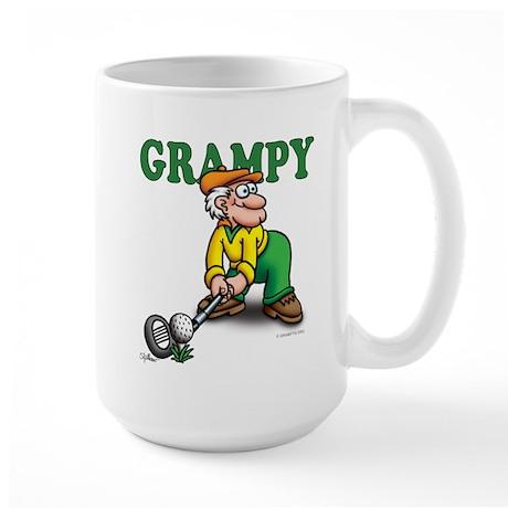 Grampy Golfer Poised Large Mug