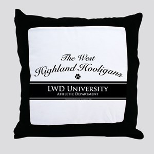 West Highland Hooligans Throw Pillow