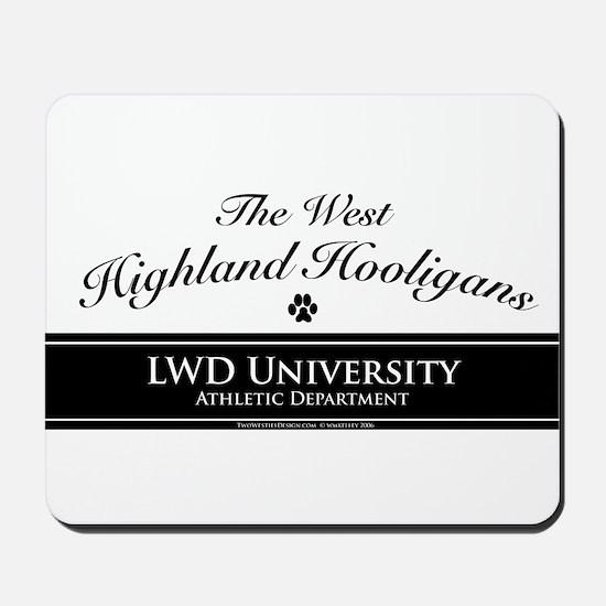 West Highland Hooligans Mousepad