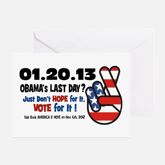 Obama's Last Day Greeting Card