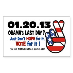 Obama's Last Day Sticker (Rectangle)