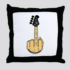 FU bass Throw Pillow