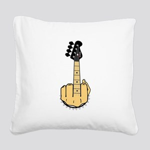 FU bass Square Canvas Pillow