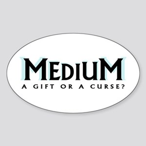 'A Gift or a Curse?' Sticker (Oval)