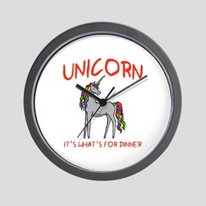 Unicorn It's What's For Dinner Wall Clock