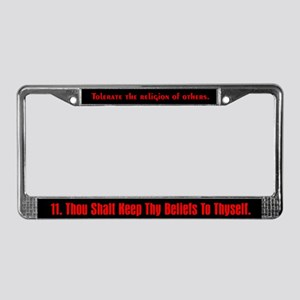 11th Commandment License Plate Frame