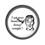 I Got Your Hand-Held Device S Wall Clock