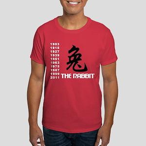 Chinese Symbol Year of The Rabbit Dark T-Shirt