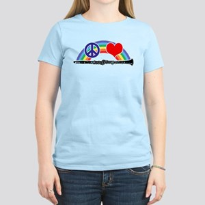 Peace Love Clarinet Women's Light T-Shirt