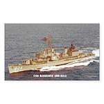 USS BASILONE Sticker (Rectangle)