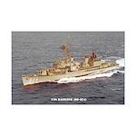 USS BASILONE Mini Poster Print