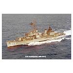 USS BASILONE Large Poster