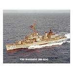 USS BASILONE Small Poster