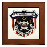 USS BASILONE Framed Tile