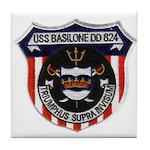 USS BASILONE Tile Coaster