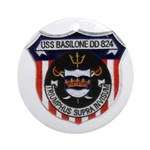 USS BASILONE Ornament (Round)