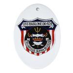 USS BASILONE Ornament (Oval)