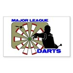 majorleaguedarts-trans-whiteborder Sticker