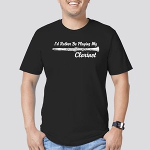 I'd Rather Be Playing My Clarinet Men's Fitted T-S