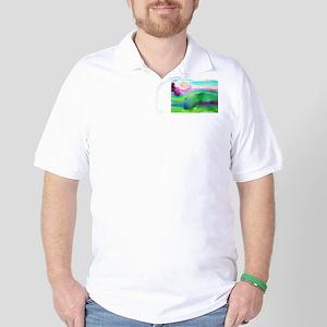 Landscape, Bright, watercolor Golf Shirt