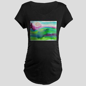 Landscape, Bright, watercolor Maternity Dark T-Shi