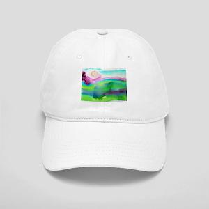 Landscape, Bright, watercolor Cap