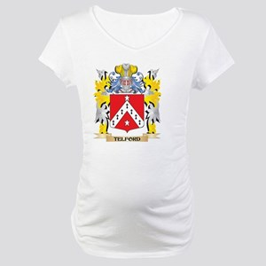 Telford Family Crest - Coat of A Maternity T-Shirt