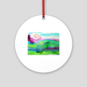 Colorful, Landscape Ornament (Round)
