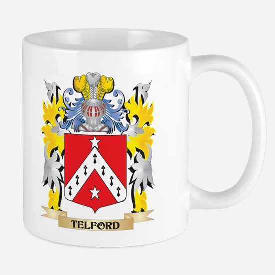 Telford Family Crest - Coat of Arms Mugs