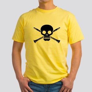 Clarinet Skull Yellow T-Shirt