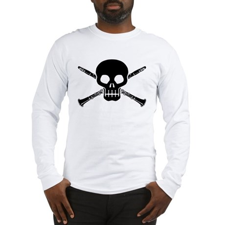 Clarinet Skull Long Sleeve T-Shirt