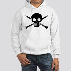 Clarinet Skull Hooded Sweatshirt
