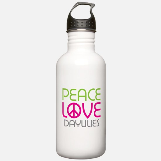 Peace Love Daylilies Water Bottle
